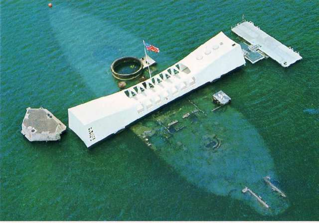 The USS Arizona Memorial, Honolulu, Hawaii