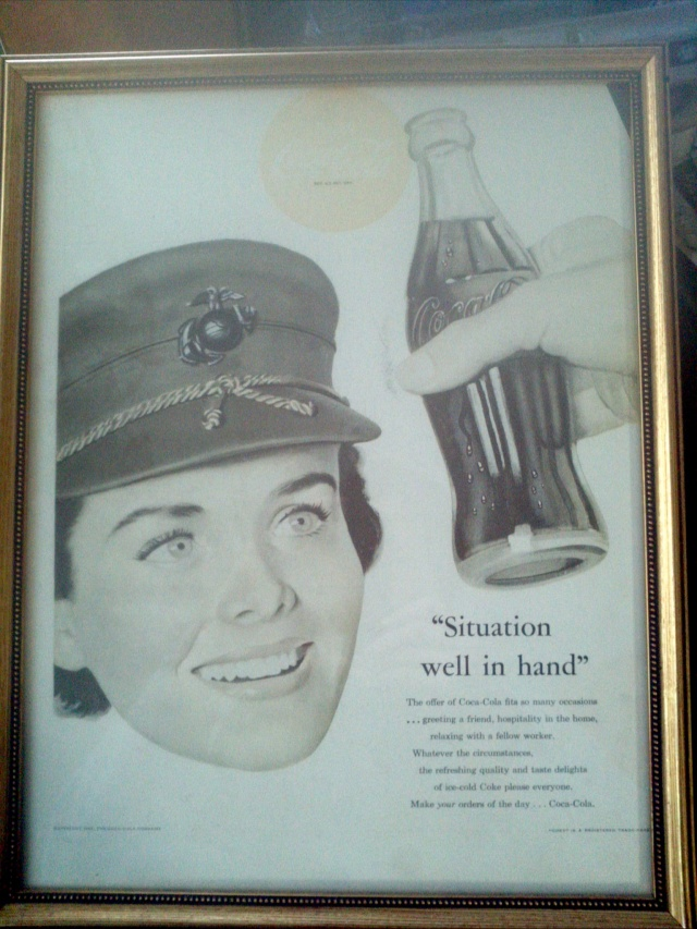 My mother, Marie Gilson, USMC Captain, 1952 Coca Cola Poster.