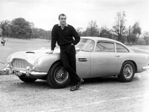 """Aston Martin in """"Goldfinger."""""""