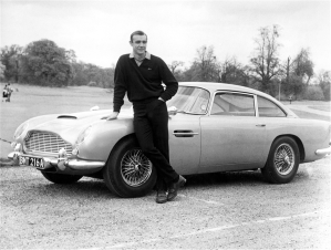 "Aston Martin in ""Goldfinger."""