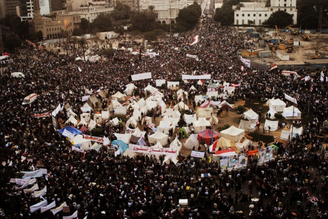 Demonstrators in Cairo's Tahrir Square, Nov. 27, 2012.