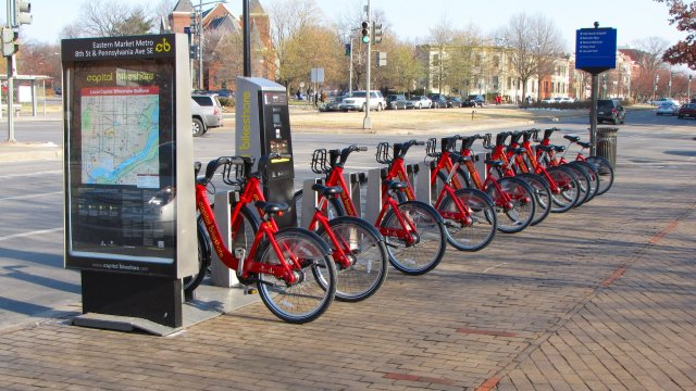 Captial Bikeshare station, Washington, D.C.