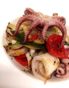 Grilled calamari at Mix.