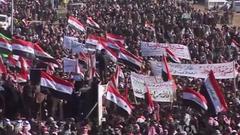 2012–14 Iraqi protests: Iraqi Sunni demonstrators protesting against the Shia-led government. Image via wikipedia.com