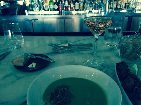The Modern Bar and broccoli soup.
